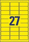 63,5 x 29,6 mm méretű nyomtatható öntapadós időjárásálló etikett A4-es lapon.