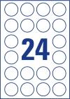 40 mm átmérőjű nyomtatható öntapadós etikett A4-es lapon.