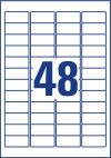 45,7 x 21,2 mm méretű nyomtatható öntapadós biztonsági etikett A4-es lapon.