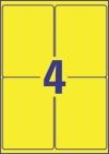 99,1 x 139 mm méretű nyomtatható öntapadós időjárásálló etikett A4-es lapon.