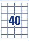 45,7 x 25,4 mm méretű nyomtatható öntapadós időjárásálló etikett A4-es lapon.