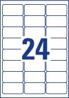 63,5 x 33,9 mm méretű nyomtatható öntapadós eltávolíthatatlan etikett A4-es lapon.