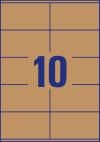 105 x 57 mm méretű nyomtatható öntapadós termék címke A4-es lapon.