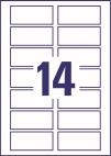 80 x 35 mm méretű nyomtatható öntapadós QR-kód címke A4-es lapon.