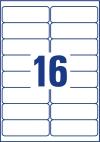 99,1 x 33,9 mm méretű nyomtatható öntapadós címzés címke A4-es lapon.