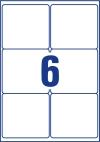 99,1 x 93,1 mm méretű öntapadó címke A4-es lapon.