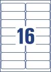 99,1 x 33,9 mm méretű nyomtatható öntapadós időjárásálló címzés címke A4-es lapon.