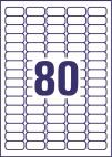 35,6 x 16,9 mm méretű nyomtatható öntapadós jelölő címke A4-es lapon.