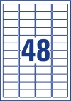 45,7 x 21,2 mm méretű nyomtatható öntapadós címzés címke A4-es lapon.