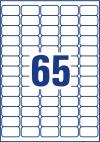38,1 x 21,2 mm méretű nyomtatható öntapadós etikett A4-es lapon.
