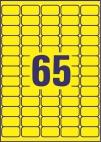 38,1 x 21,2 mm méretű öntapadó címke A4-es lapon.