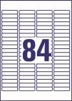 46 x 11,1 mm méretű nyomtatható öntapadós jelölő címke A4-es lapon.
