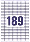 25,4 x 10 mm méretű nyomtatható öntapadós mini rendszerező címke A4-es lapon.