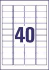 45,7 x 25,4 mm méretű öntapadó címke A4-es lapon.