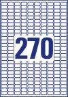 17,8 x 10 mm méretű nyomtatható öntapadós víztiszta átlátszó termék címke A4-es lapon.
