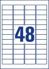 45,7 x 21,2 mm méretű nyomtatható öntapadós etikett címke A4-es lapon.
