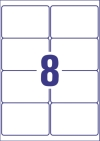 99,1 x 67,7 mm méretű öntapadó címke A4-es lapon.