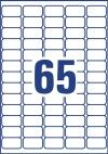 38,1 x 21,2 mm méretű nyomtatható öntapadós etikett címke A4-es lapon.