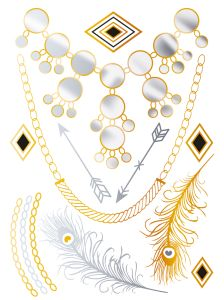 Herma Glamour Line Flash Tattoo Diamonds Style