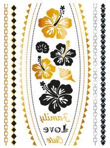 Herma Glamour Line Flash Tattoo Flower Style