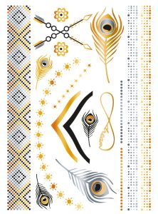Herma Glamour Line Flash Tattoo Accessoires Style