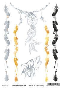 Herma Glamour Line Flash Tattoo Dreamcatcher Style