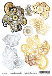 Herma Glamour Line Flash Tattoo Mandala Style