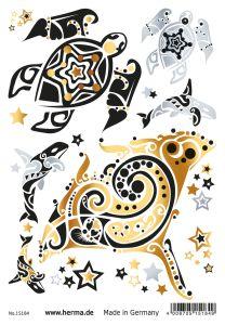 Herma Glamour Line Flash Tattoo Ocean Style