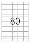 35,6 x 16,9 mm méretű öntapadó címke A4-es lapon.