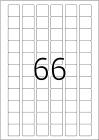 25,4 x 25,4 mm méretű, négyzet alakú öntapadó címke A4-es lapon.