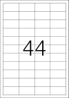 48,3 x 25,4 mm méretű öntapadó címke A4-es lapon.