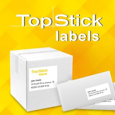 TopStick nyomtatható öntapadó etikett címkék.