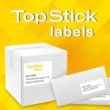 Nyomtatható öntapadós címke általános felhasználásra.