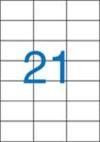 70 x 42,4 mm méretű nyomtatható öntapadós etikett A4-es lapon.