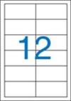 97 x 42,4 mm méretű nyomtatható öntapadós etikett A4-es lapon.